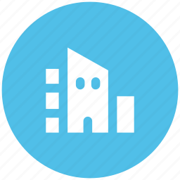 luxury house, modern house, residence house icon