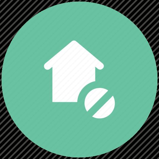 home, house, real estate, remove sign, villa icon