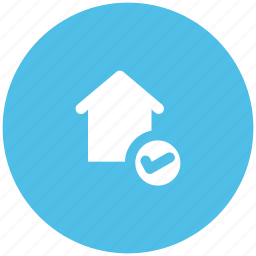 checkmark, home, house, real estate, residence icon