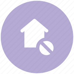 home, house, real estate, remove sign, residence icon