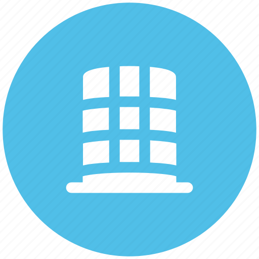 Bank building, building, business center, financial center, round shape icon - Download on Iconfinder