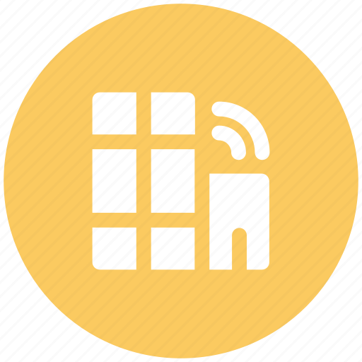 building, dwelling, wifi service, wifi signals, wifi zone icon