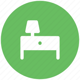 furniture, lamp, study table, table, table lamp icon