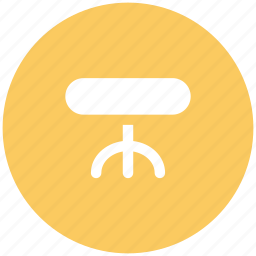 dining table, furniture, lounge table, side table, table icon