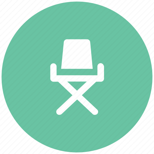 director chair, folding chair, furniture, outdoor furniture, studio chair icon