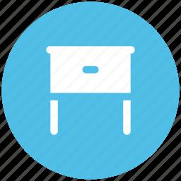 bedside table, furniture, interior decoration, interior furniture, table icon