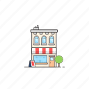 building, office, restaurant, shope, store, supermarket icon
