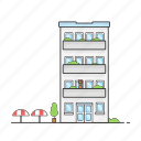 apartment, building, hotel, office icon