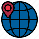 globe, location, pin
