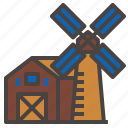 farm, windmill icon