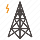 electric, power, tower