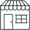 barbershop, building, shop, store icon icon