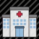architecture, building, city, construction, hospital