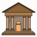 architecture, bank, building, embassy, museum icon