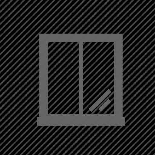 casement, double, gap, glazed, light, room, window icon