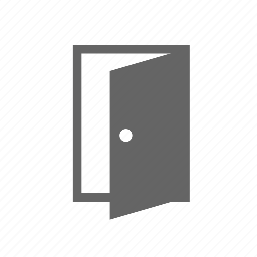 building, construction, door, entry, house, open, room icon
