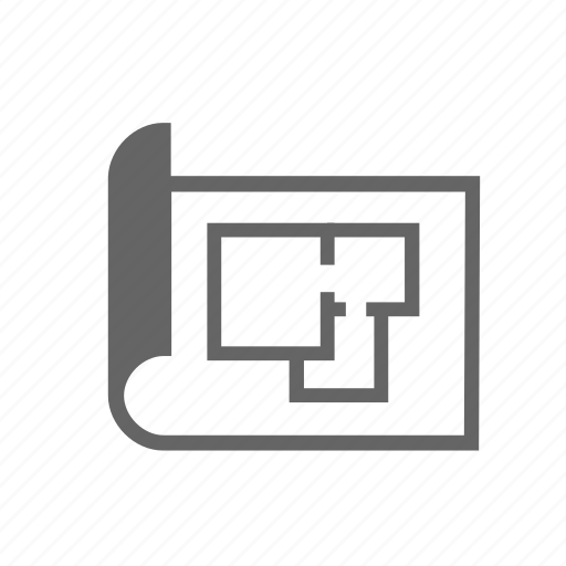 apartment, house, layout, plan, project, rooms, scheme icon