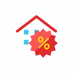 discount, house icon