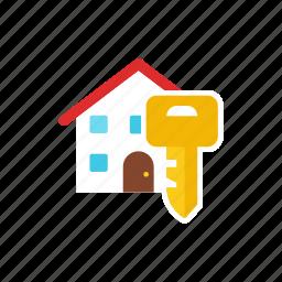 house, lock icon