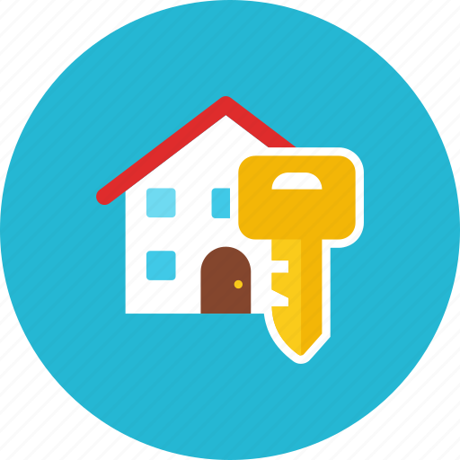 house, lock icon