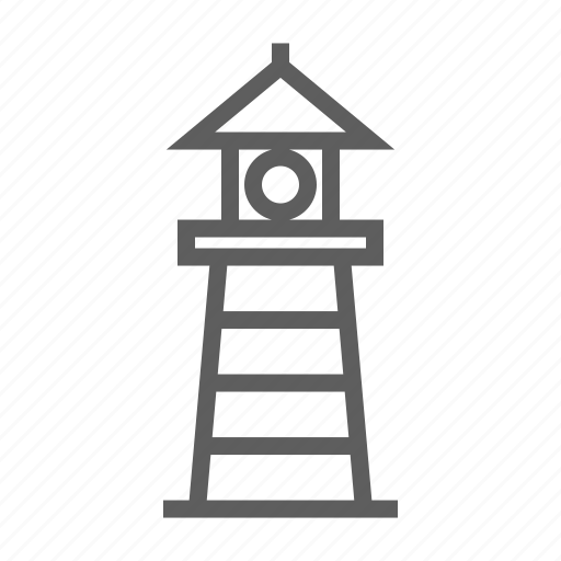 building, house, landmark, residental, stroke, travel icon
