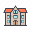 building, color, house, landmark, residental, travel icon