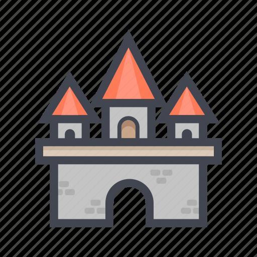 building, color, house, landmark, residental, travel icon