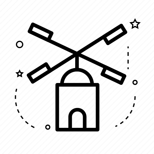 building, construction, estate, mill, place, real, windmill icon