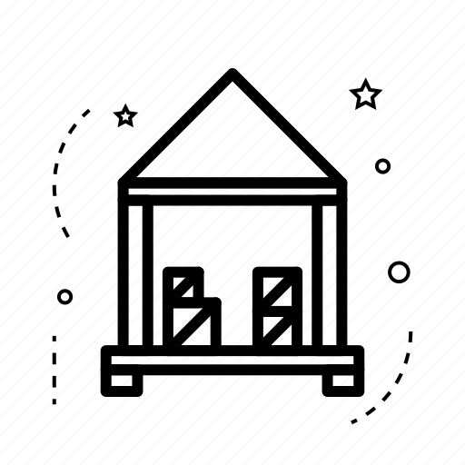 building, estate, home, place, real, storehouse, warehouse icon