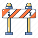 block, cartoon, object, road, safety, stop, traffic icon