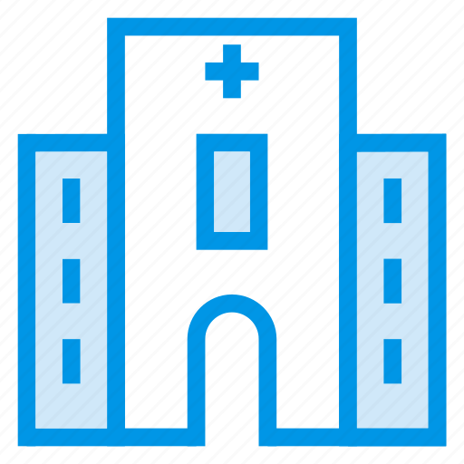 architecture, building, commercial, estate, hospital, property, town icon