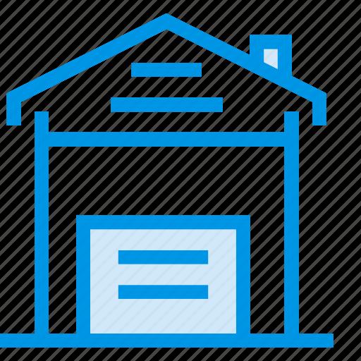 architecture, building, commercial, estate, garaj, house, property icon