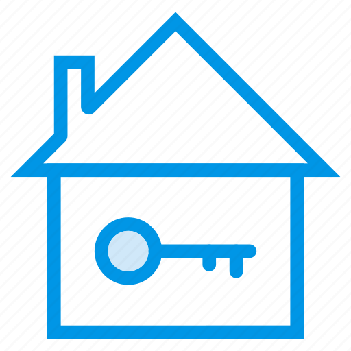 architecture, building, commercial, estate, house, key, property icon