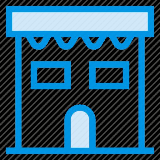 architecture, building, commercial, estate, property, shop, town icon