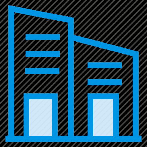 architechture, bank, building, commercial, estate, property, town icon