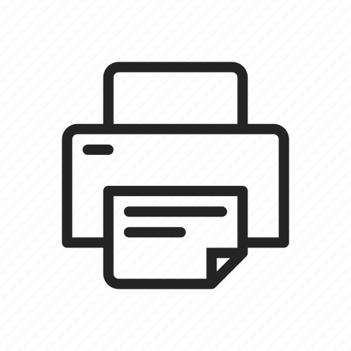 document, ink, office, paper, printer icon