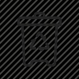 bin, delete, garbage, recycle, trash icon