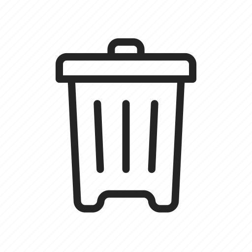 bin, can, delete, recycle, trash icon
