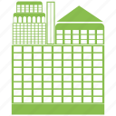 building, city, estate, home, hotel, house, town icon