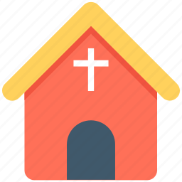 chapel, christian building, church, religious, religious building icon