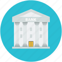 bank building, building, building exterior, building front, financial center