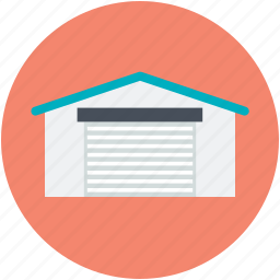 building, commercial building, storage garage, storage unit, storehouse, warehouse exterior icon