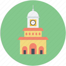 historic building, landmark, library, monument, museum icon