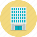 building, building exterior, business center, city building, commercial building icon