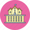 building, college, government, hotel, office, palace, university