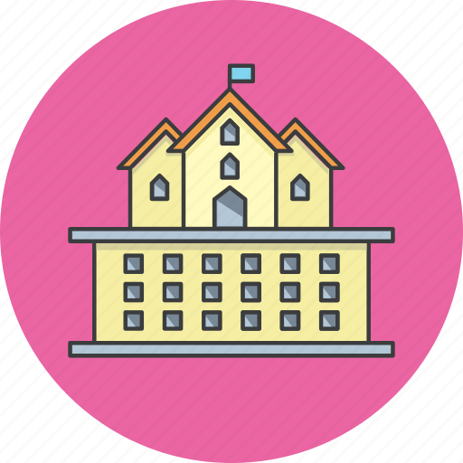building, college, government, hotel, office, palace, university icon