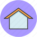 construction, cottage, home, house, hut, roof, stay icon