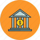 bank, building, college, government, institution, museum, office icon