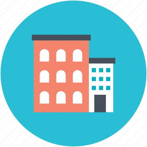building, hotel, hotel building, inn, public house icon