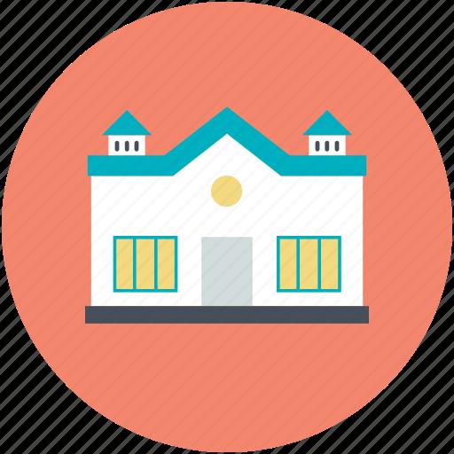 building, building exterior, campus, educational building, real estate, school icon